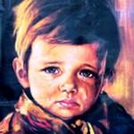『泣く少年』 火事を引き寄せる呪われた絵