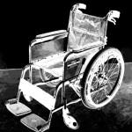 看護婦と車椅子