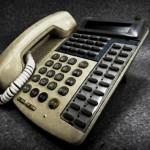 滅多に鳴らない電話機
