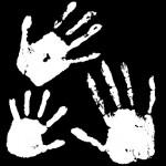 写真に写った手形