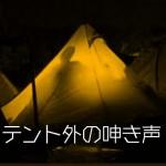 ★テント外の呻き声