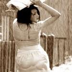土砂降りと母の記憶